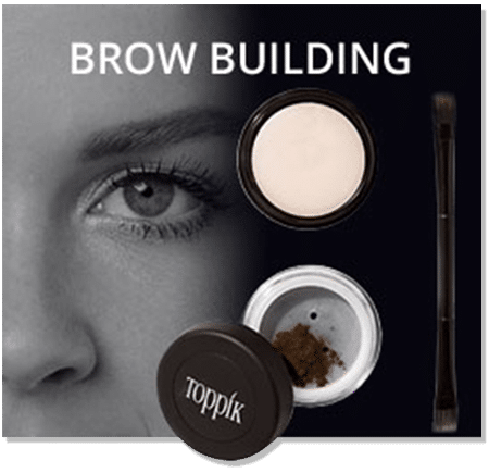Brow building fibers ideal for hair loss above the eyes