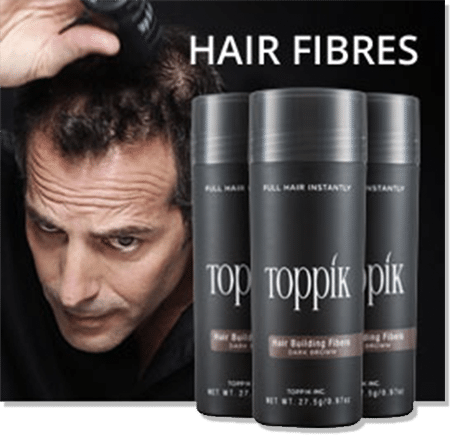 hair loss never again not with Toppik hair loss fibers